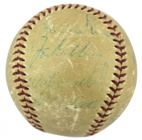 1965 Pirates Baseball Signed by (17) with Roberto Clemente, Willie Stargell, Bill Mazeroski, Vern Law (Beckett LOA) (See Description) at PristineAuction.com