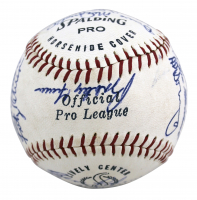 1969 Yankees Spalding Baseball Signed by (24) with Thurman Munson, Bobby Cox, Gene Michael, Horace Clarke (Beckett LOA) (See Description) at PristineAuction.com