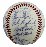 1991 Twins World Series Baseball Signed by (30) with Kirby Puckett, Tom kelly, Al Newman, Mark Guthrie (Beckett LOA) at PristineAuction.com