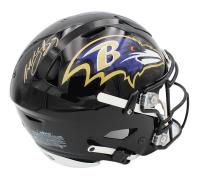 Willis McGahee Signed Ravens Full-Size Authentic On-Field Eclipse Alternate SpeedFlex Helmet (Radtke COA) at PristineAuction.com