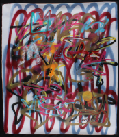 "Tadas Zaicikas Signed ""Ultra Lines #46"" 35x41 Painting On Canvas (PA LOA) at PristineAuction.com"