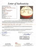 2011 Heat Family Festival Basketball Signed by (15) with LeBron James, Dwyane Wade, Shane Battier, Juwan Howard (JSA LOA) (See Description) at PristineAuction.com