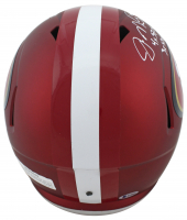 Joe Montana & Jerry Rice Signed 49ers Full-Size Blaze Speed Helmet With Multiple Inscriptions (Beckett COA) at PristineAuction.com