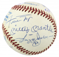 500 Homerun Club OAL Baseball Signed by (11) by Mickey Mantle, Willie Mays, Ernie Banks, Hank Aaron, Reggie Jackson, Harmon Killebrew (PSA LOA) at PristineAuction.com
