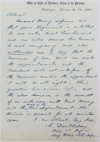Abner Doubleday Signed 5x7 1861 Hand-Written Civil War Era Letter (Beckett LOA) at PristineAuction.com