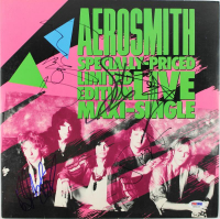 Aerosmith Vinyl Record Album Signed by (5) with Steven Tyler, Tom Hamilton, Joey Kramer, Joe Perry (PSA LOA) at PristineAuction.com