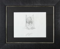 "Alex Ross Signed ""Batman"" 14.5x17.5 Custom Framed Original Art Sketch Display (Beckett LOA) at PristineAuction.com"