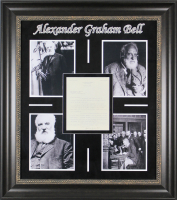 Alexander Graham Bell Signed 30.5x34.5 Custom Framed Letter Display (Beckett LOA) at PristineAuction.com