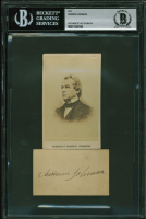 Andrew Johnson Signed 2x3.25 Cut (BGS Encapsulated) at PristineAuction.com
