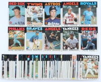 1986 Topps Complete Set of (792) Baseball Cards with Nolan Ryan #100, Reggie Jackson #700, Kirby Puckett #329, Roger Clemens #661, Rod Carew #400 at PristineAuction.com