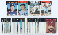 1986 Topps Complete Set of (792) Baseball Cards with Don Mattingly #180, Nolan Ryan #100, Roger Clemens #661, Kirby Puckett #329 at PristineAuction.com