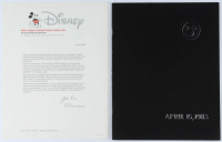 Vintage 1983 Original Tokyo Disneyland Opening Day Program with Original Letter at PristineAuction.com