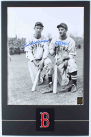 Ted Williams & Bobby Doerr Signed Red Sox 17x26 Custom Matted Photo Display (Williams Hologram & PSA LOA - Graded 10) (See Description) at PristineAuction.com
