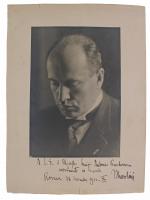 Benito Mussolini Signed 10.25x13.25 Photo With Extensive Inscription (Beckett LOA) (See Description) at PristineAuction.com