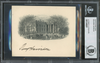 Benjamin Harrison Signed White House Card (BGS Enapsulated) at PristineAuction.com