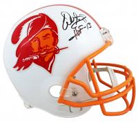 "Warren Sapp Signed Buccaneers Full-Size Throwback Helmet Inscribed ""HOF '13"" (Beckett COA) at PristineAuction.com"