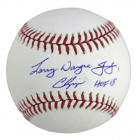 "Chipper Jones Signed OML Baseball Inscribed ""HOF 18"" (PSA COA) at PristineAuction.com"