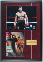 Mike Tyson Signed 19x27 Custom Framed Print Display With Full 1988 Ring Magazine (Beckett COA & Fiterman Sports Hologram) at PristineAuction.com