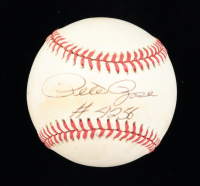 "Pete Rose Signed ONL Baseball Inscribed ""#4256"" (PSA COA) (See Description) at PristineAuction.com"