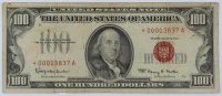 1966 Star Note $100 One-Hundred Dollars Red Seal U.S. Legal Tender Note at PristineAuction.com