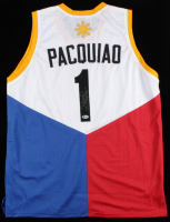 """Manny Pacquiao Signed Jersey Inscribed """"Pacman"""" (Beckett COA) at PristineAuction.com"""