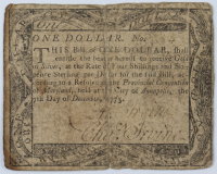 1775 $1 One Dollar - Maryland - Colonial Paper Currency Note at PristineAuction.com