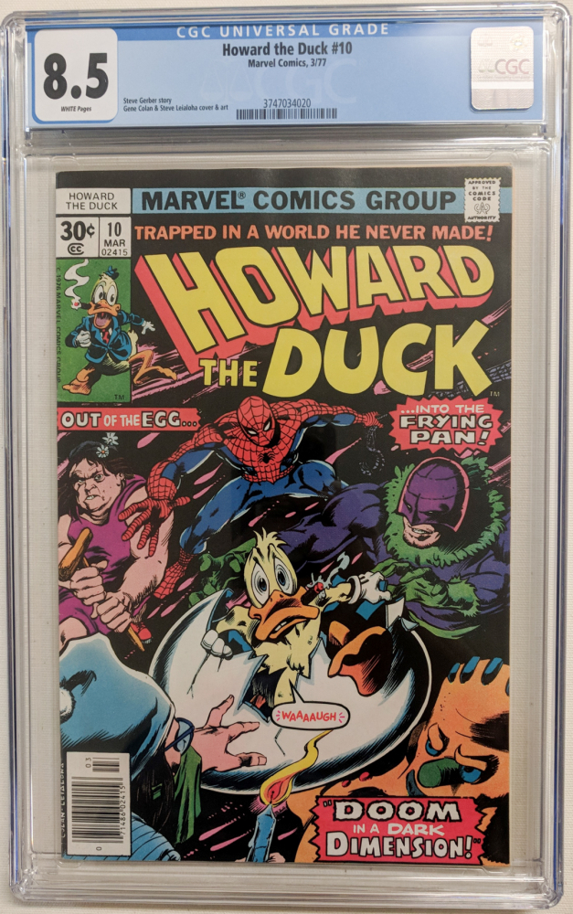 """1977 """"Howard the Duck"""" Issue #10 Marvel Comic Book (CGC 8.5) at PristineAuction.com"""