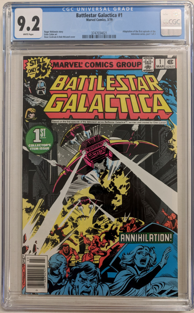 "1979 ""Battlestar Galactica"" Issue #1 Marvel Comic Book (CGC 9.2) at PristineAuction.com"