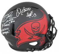 "Warren Sapp & Mike Alstott Signed Buccaneers Full-Size Eclipse Alternate Speed Helmet Inscribed ""A-Train"", ""SB XXXVII Champs!"", & ""HOF 13"" (Beckett COA) at PristineAuction.com"