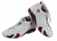 Pair of (2) Michael Jordan Signed Jordan 14 Retro Candy Cane Shoes (Beckett COA) (See Description) at PristineAuction.com