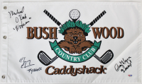 "Chevy Chase, Cindy Morgan & Michael O'Keefe Signed ""Caddyshack"" Bushwood Country Club Golf Pin Flag with Character Inscriptions (PSA COA) at PristineAuction.com"