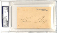 Calvin Coolidge Signed 2.75x3.25 Cut (PSA Encapsulated) at PristineAuction.com