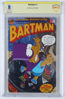 "Matt Groening Signed 1993 ""Bartman"" Issue #1 Bongo Comic Book (Beckett Encapsulated) at PristineAuction.com"