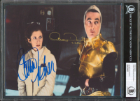 "Carrie Fisher & Anthony Daniels Signed ""Star Wars"" 8x10 Photo Inscribed ""C-3PO"" (BGS Encapsulated) at PristineAuction.com"