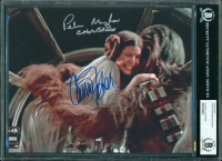 "Carrie Fisher & Peter Mayhew Signed ""Star Wars"" 8x10 Photo Inscribed ""Chewbacca"" (BGS Encapsulated) at PristineAuction.com"