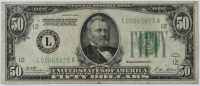 1928 $50 Fifty Dollars Green Seal U.S. Federal Reserve Note at PristineAuction.com