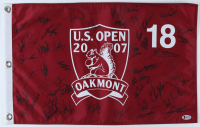 2007 US Open Pin Flag Signed by (47) with Paul Casey, Luke Donald, Justin Rose, Chris DiMarco, Henrik Stenson (Beckett LOA) at PristineAuction.com