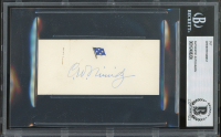Chester W. Nimitz Signed 1.8x4 Cut (BGS Encapsulated) at PristineAuction.com