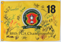 2006 PGA Championship Champions & Field Pin Flag Signed by (39) with Dow Finsterwald, Larry nelson, Jeff Sluman, Kenny Perry, Miguel Angel Jimenez (Beckett LOA) at PristineAuction.com