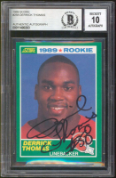 Derrick Thomas Signed 1989 Score #258 RC (BGS Encapsulated) at PristineAuction.com
