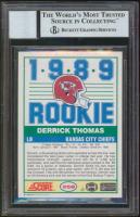 Derrick Thomas Signed 1989 Score #258 RC (BGS Encapsulated) at PristineAuction.com