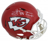 "Travis Kelce Signed Chiefs Full-Size Authentic On-Field Speed Helmet Inscribed ""SB LIV Champs"" (Beckett COA) at PristineAuction.com"