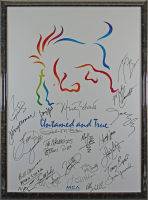 Country Music Stars 24x36 Poster Signed by (24) with George Strait, George Jones, Vince Gill, Reba McEntire, Marty Stuart (Beckett LOA) at PristineAuction.com