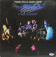 """Crosby, Stills, Nash & Young """"4 Way Street"""" Vinyl Record Album Cover Band-Signed by (4) with Neil Young, David Crosby, Stephen Stills & Graham Nash (PSA LOA) at PristineAuction.com"""