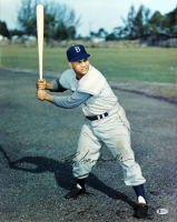 Roy Campanella Signed Dodgers 16x20 Photo (Beckett LOA) at PristineAuction.com