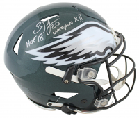 "Brian Dawkins Signed Eagles Full-Size Authentic On-Field SpeedFlex Helmet Inscribed ""HOF 18"" & ""Weapon X!!"" (JSA COA) at PristineAuction.com"