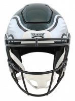 """Brian Dawkins Signed Eagles Full-Size Authentic On-Field SpeedFlex Helmet Inscribed """"HOF 18"""" & """"Weapon X!!"""" (JSA COA) at PristineAuction.com"""