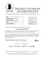 Eric Clapton Signed 8x9 Letter (Beckett LOA) at PristineAuction.com