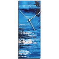 City Blue v1 16x6 Clock by Mendo Vasilevski at PristineAuction.com
