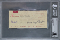 Frank Lloyd Wright Signed 27x44 Custom Framed 1949 Bank Check Display (BGS Encapsulated) at PristineAuction.com